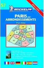 Cover of Michelin's Paris Par Arrondissements Plan Atlas