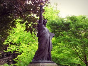 Statue Of Liberty in the Luxembourg Gardens