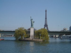 Statue Of Liberty on the River Seine