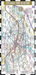 Streetwise Paris Metro Map Laminated Paris Metro Map